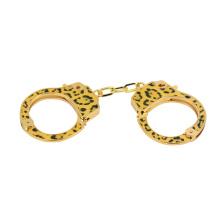 High End Bdsm Toys Sm Sex Handcuff Bracelet Leopard Print Metal Handcuffs for Sex