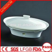 Restaurant d'hôtel de qualité Réservoir à soupe de porcelaine ovale traditionnelle chinoise