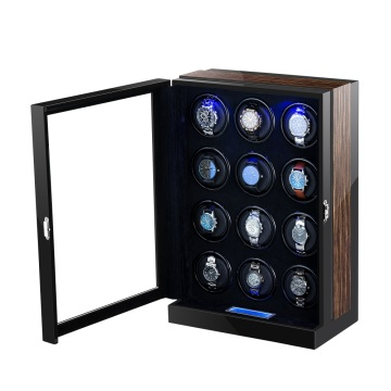 Tweleve Rotors Watch Winder con luce a LED
