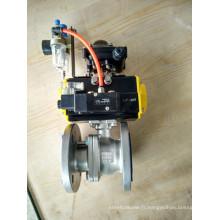 Robinet à boisseau sphérique à bride pneumatique 2 PC Electro