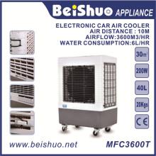 40L ventilador de refrigeração eletrônico / ar refrigerador portátil, plástico portátil evaporativo DC 24V