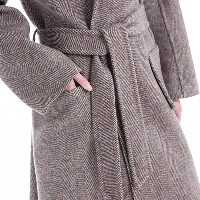 Belted of the New Styles Camel Winter Coat