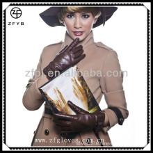 Fashional Schönheit Mädchen Leder neue Design Handschuh