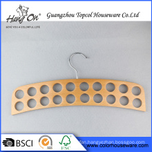 Special shape hot selling household wooden hanger for Tie/Belt