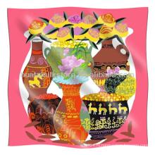 Малый квадратный шарф Китайский стиль Ваза Pattern Малый квадратный шарф