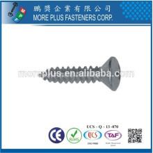 Hecho en Taiwán DIN7983 con la galjanoplastia blanca del zinc
