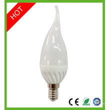 CE RoHS E14 Vela Bombilla Bombilla LED de luz