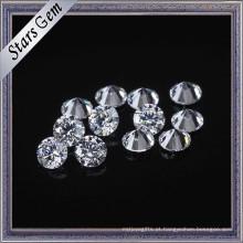 Muitos tamanho e cor disponíveis pedras preciosas frouxas redondas brilhantes do zirconia do corte CZ