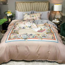 Made in China Fashion Style Bed Linen Cotton Brushed Fabric Comfortable for Queen Bed Sheet