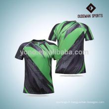 Les sports de compression en gros portent la chemise courante courante de vente chaude avec trois couleurs