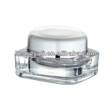 15g 30g 50g 75g 125g square transparent acrylic cream jar