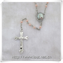 Hot Sell 6mm Plastic Beads Rosary with Photo Connector Fatima, Papa Francisco (IO-cr382)