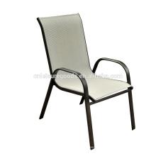 2016 pas cher Sling acier empilable en plein air chaise