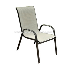 2016 cheap Sling steel outdoor Stacking chair