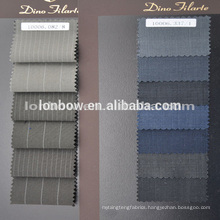 Stock brown stripe designs woven cloth fashion wool fabric