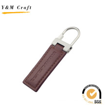 Promotion Gift Metal Keyring Leather Keychain with Stamp Logo