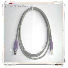 Кабель USB высокого качества серый 2.0 AM К кабелю USB кабеля BM Кабель 1.5M