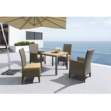 Modern Design Outdoor Furniture Rattan Tecido Set de jantar