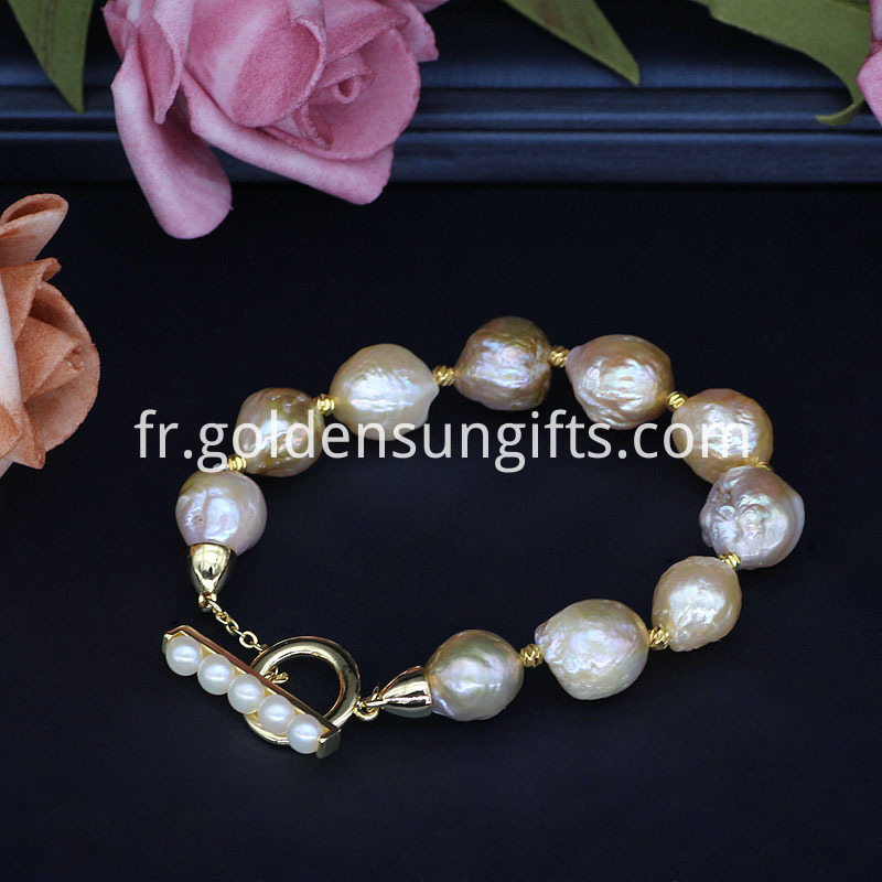 Colorful Baroque Pearl Bracelets