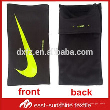 custom logo printed microfiber sports mobile phone cleaning arm pouch