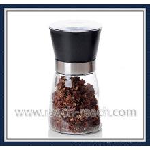 Manual de cristal de sal y pimienta de molino, molino de la cocina (R-6054)