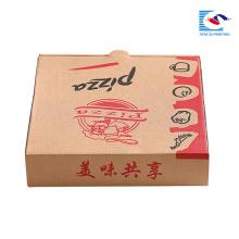caixa de embalagem ondulada da pizza feita sob encomenda 18inch com seu logotipo