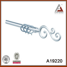 A19220 mordern fancy metal curtain rod finials,double single pole curtain rod set,decoration curtain accessories