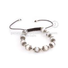 Fournisseur de gros pour bijoux Bracelet en argent aux pierres précieuses semi-fines et artisanales