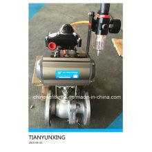 JIS Standard Flanged Pneumatic Actuator Stainless Steel Ball Valve