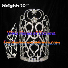 Wholesale Rhinestone Big 10inch Crowns