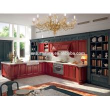 Con 9 años de fábrica de experiencia directamente muebles de cocina de color rojo para el mercado de Canadá
