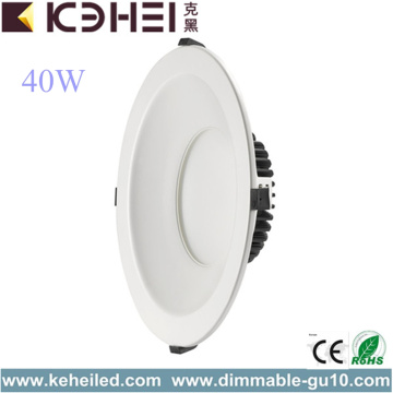 40W 4000K LED Recessed Downlight Fixtures Philips Driver