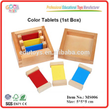 Montessori material Color Tablets