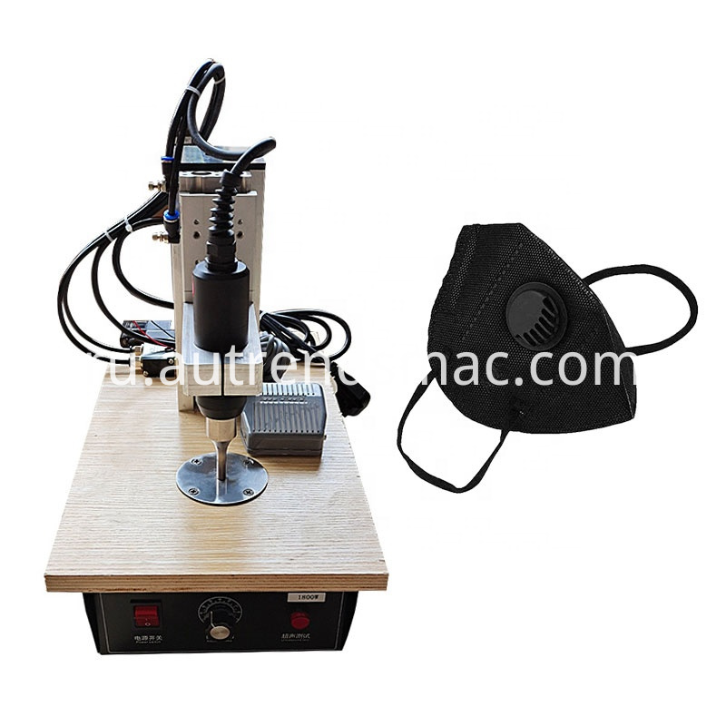 Semi-automatic disposable mask ear strap machine