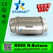 Gás refrigerante n-butano R600 pureza 99,9%