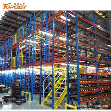 steel warehouse cold storage mezzanine floor shelf racking system