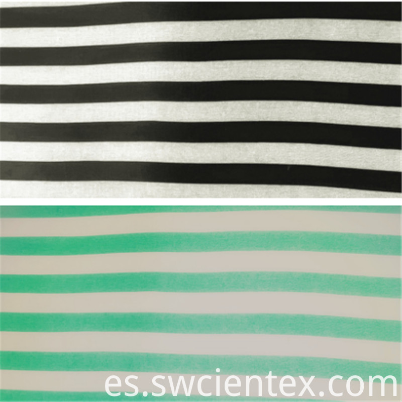 Customized Printed Rayon Spandex Striped Blouse Fabric
