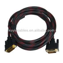 Высокоскоростной 1,8 м DVI-кабель DVI 24 + 1 DVI-D от мужчины к мужчине Видеокабель M / M