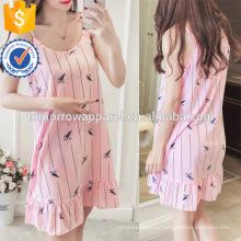 Разноцветными рюшами спагетти ремень печатные платье пижамы лето Пижама Производство Оптовая продажа женской одежды (TA0003P)