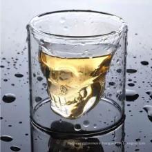 Haonai Man blown 2.5oz (75ml) Crystal Skull Shot glasses.