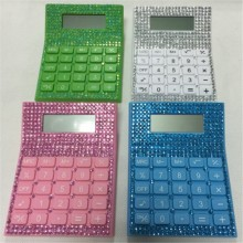 8 chiffres Bling Desktop Crystal Diamonds Calculator