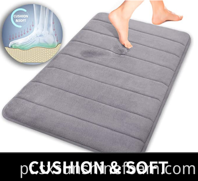 Memory Foam Bath Mat Straight Line Quilting B
