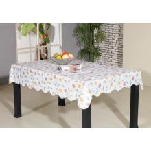 PVC-bedruckte Tischdecke mit Flanell-Unterstützung (TJ0055)