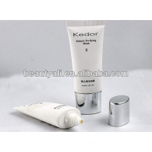 1.2oz oval cosmetic tube with screw plated cap