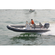 new yacht RIB650 fiberglass hull inflatable boat with CE
