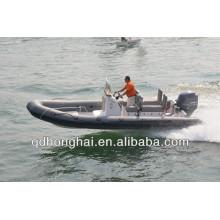 novo iate RIB650 barco inflável casco de fibra de vidro com CE