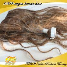 горячая распродажа дешевые ленты волос девственницы Реми расширения ленты волос ленты
