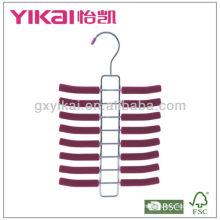 Set of 3pcs EVA foam coated metal tie hanger with 16racks
