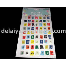 Letter and number epoxy sticker