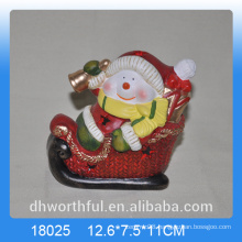 Christmas decoration ceramic snowman figurine